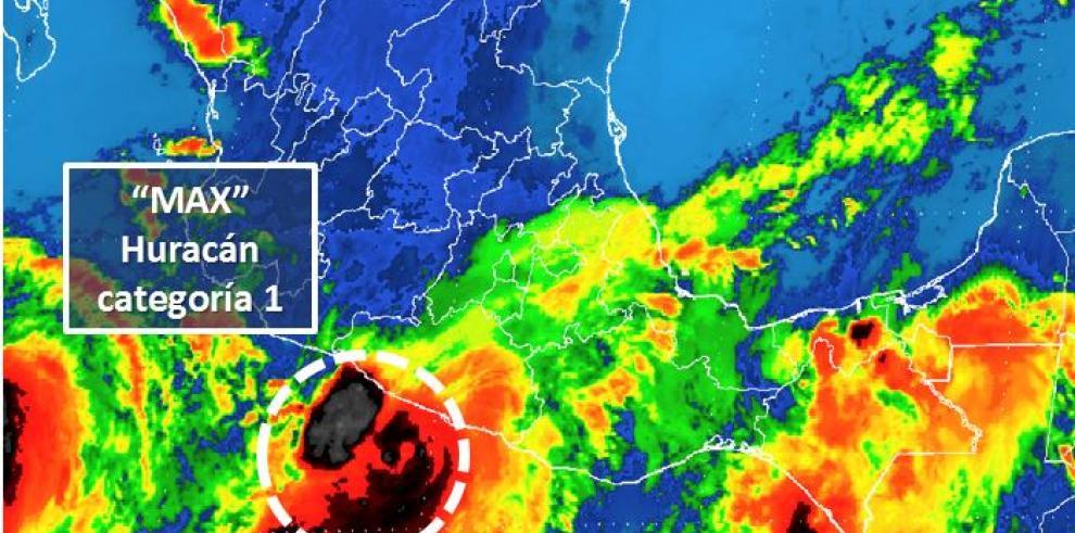Max se convierte en huracán categoría 1 muy cerca de costas del sur de México
