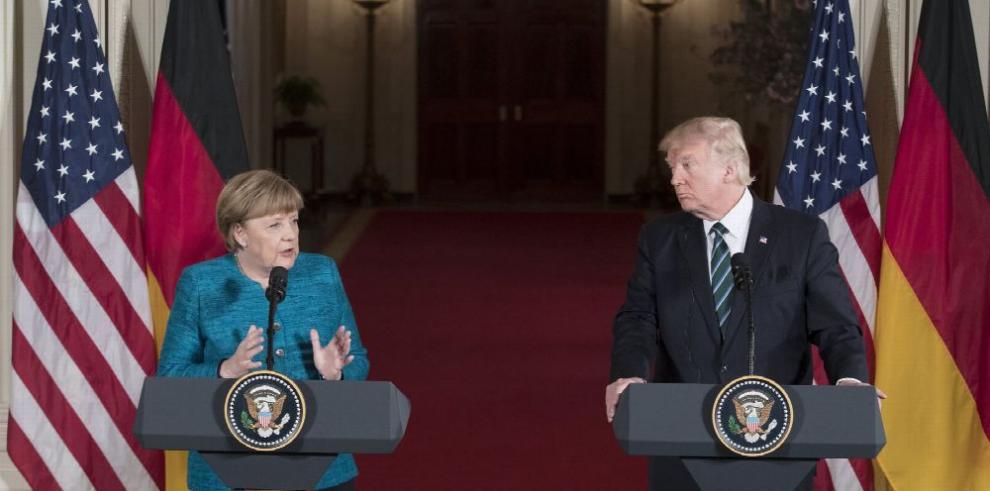 Primer encuentro entre Merkel y Trump