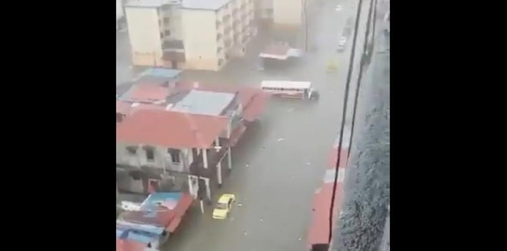Inundaciones en la ciudad de Colón