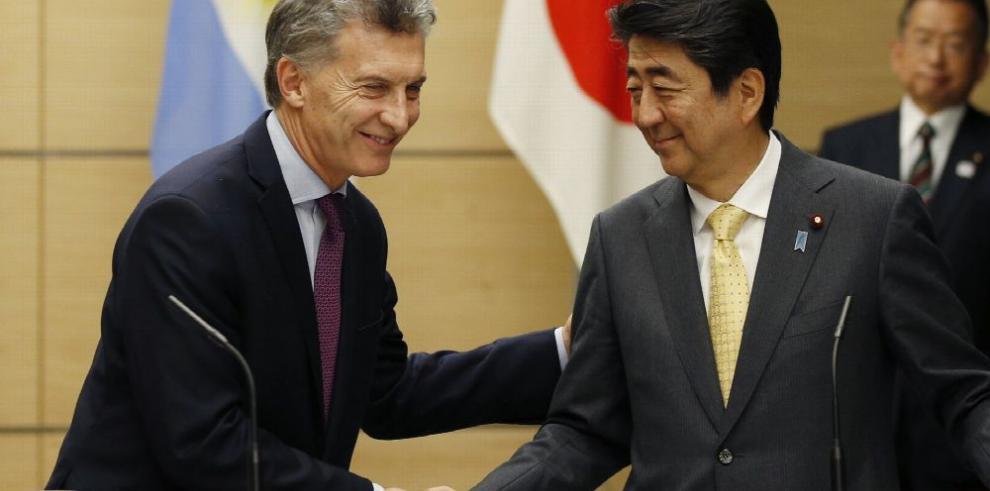 Abe y Macri pactan potenciar relaciones comerciales