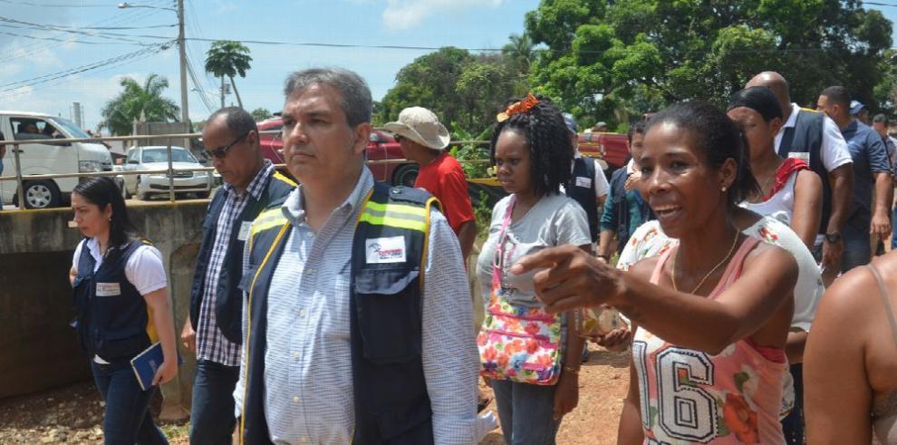 SPIA visita áreas de Juan Díaz afectadas por inundaciones