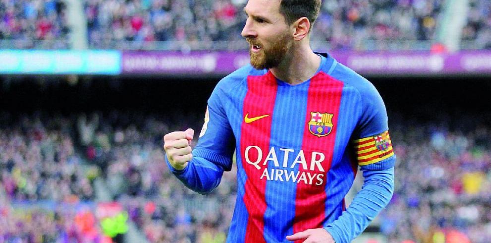 Luis Enrique elogia al jugador argentino Messi