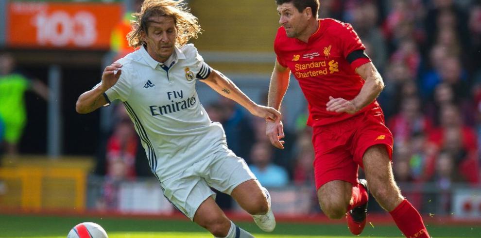 Liverpool con Gerrard derrota al Real Madrid