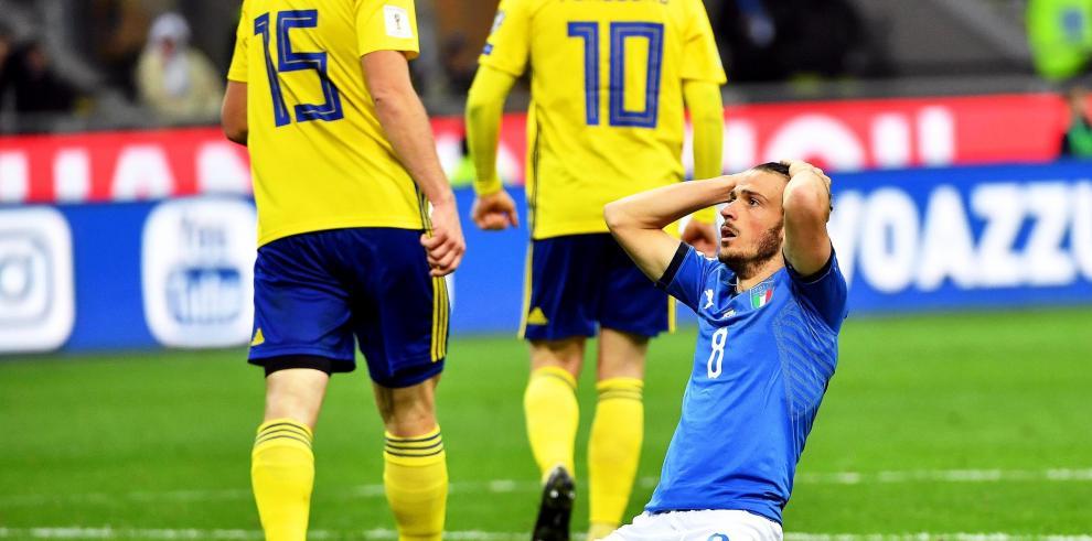 Italia no pudo y está fuera del Mundial Rusia 2018, al empatar 0-0 con Suecia