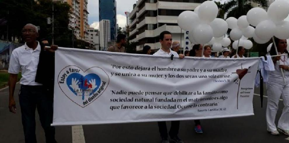 Una multitudinaria marcha respalda 'la familia natural'