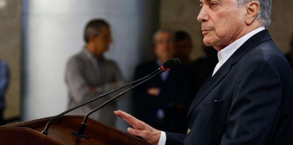 Temer: 'No renunciaré aunque sea imputado por corrupción'