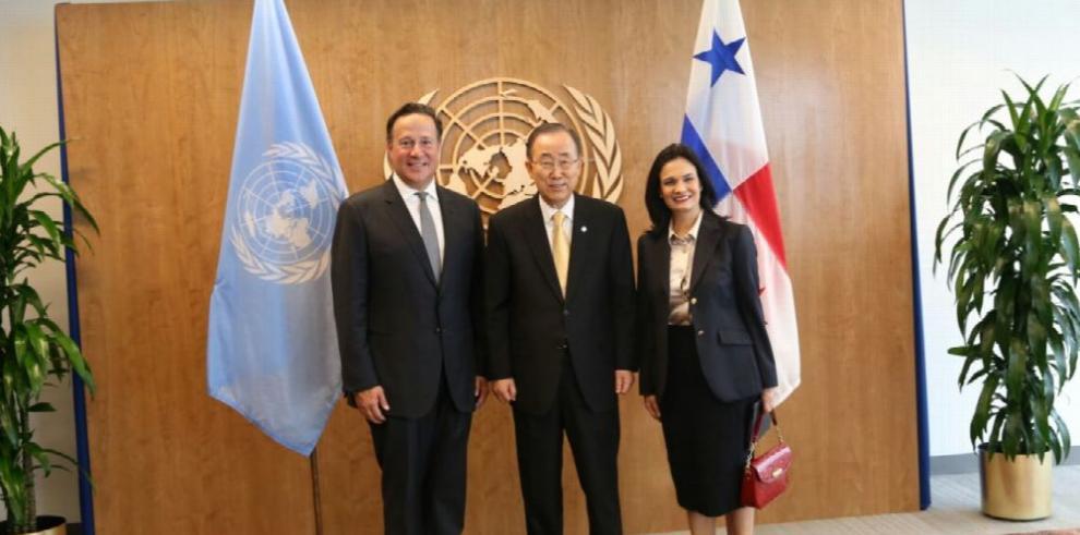 El presidente Varela se reúne con Ban Ki-Moon