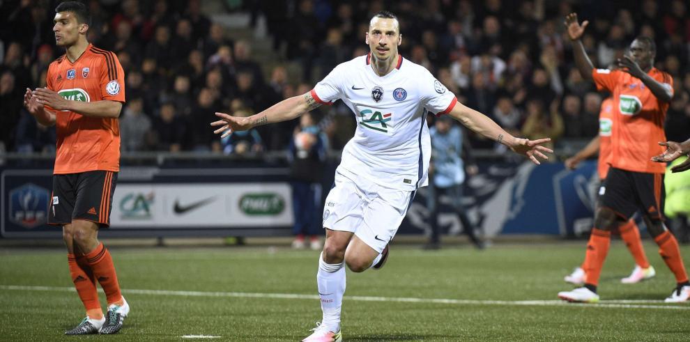 PSG gana al Lorient con gol de 'Ibra' y jugará la final de la Copa