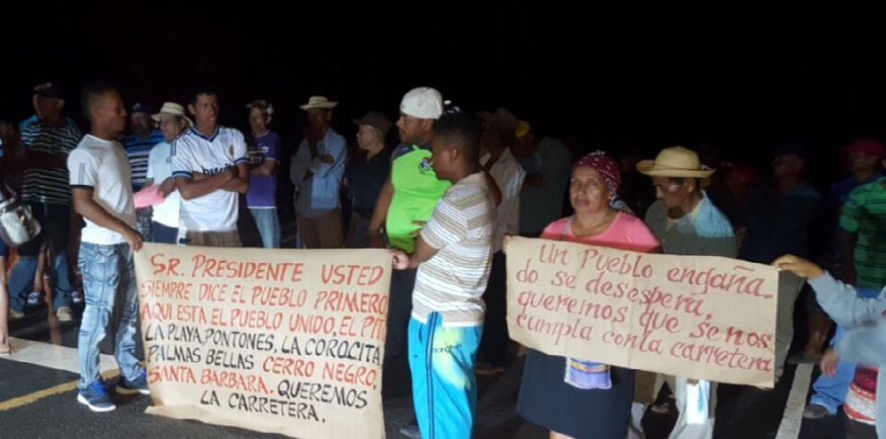 Residentes del distrito Soná reclaman al MOP mejores vías