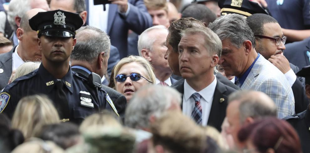 Hillary abandonó la ceremonia del 11-S tras sufrir un desmayo