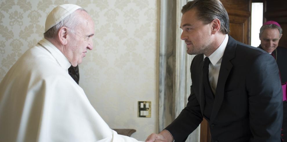Papa recibe a DiCaprio para hablar de defensa del medioambiente