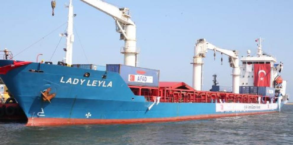 Barco de bandera panameña lleva a Gaza,