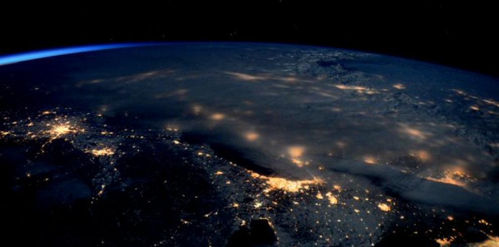 Desde la Estación Espacialtuitean fotos de la gran tormenta en EE.UU.