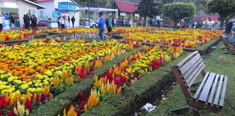 Volcán da la bienvenida a la Segunda Parada de las Flores
