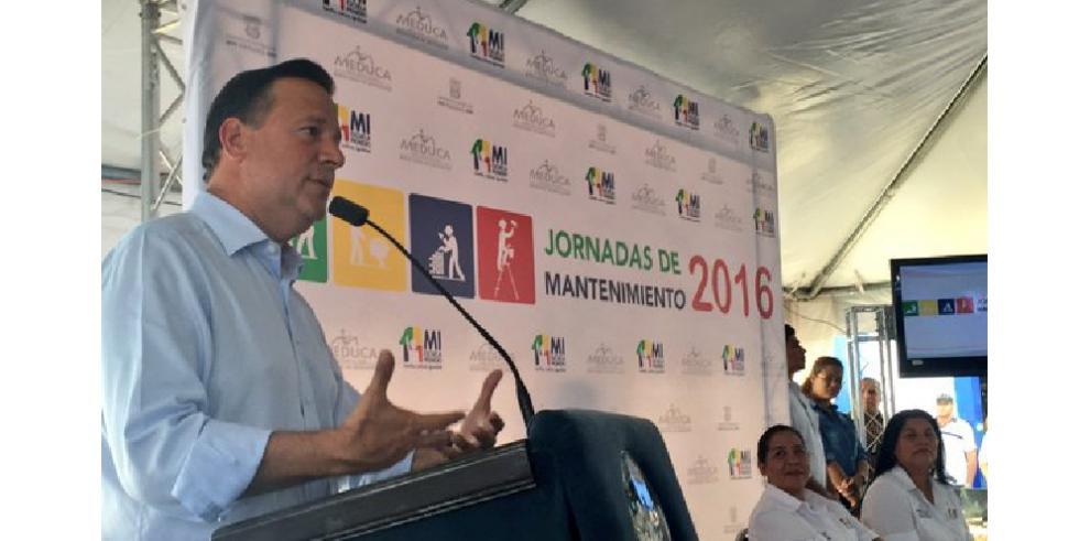 Gobierno inicia trabajos de mantenimiento en planteles del país