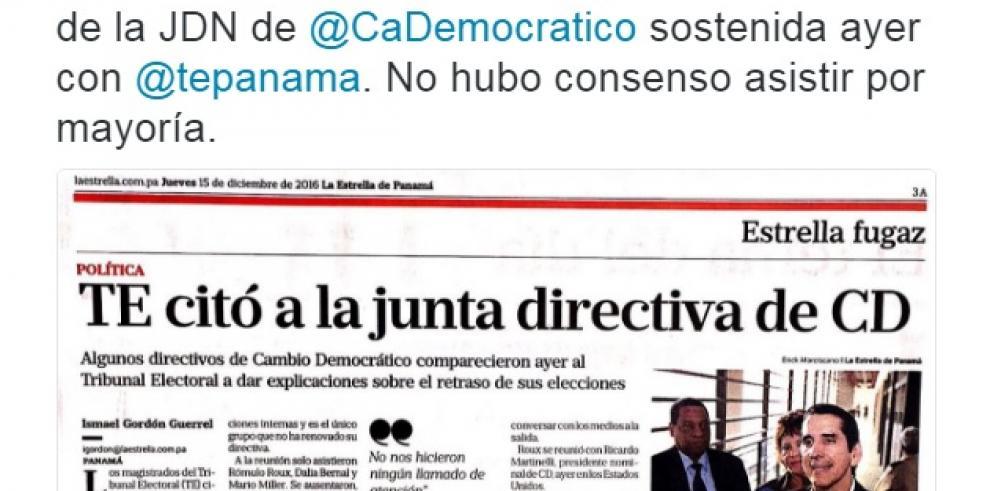 Alma Cortés desconoce reunión de directivos del CD con el TE