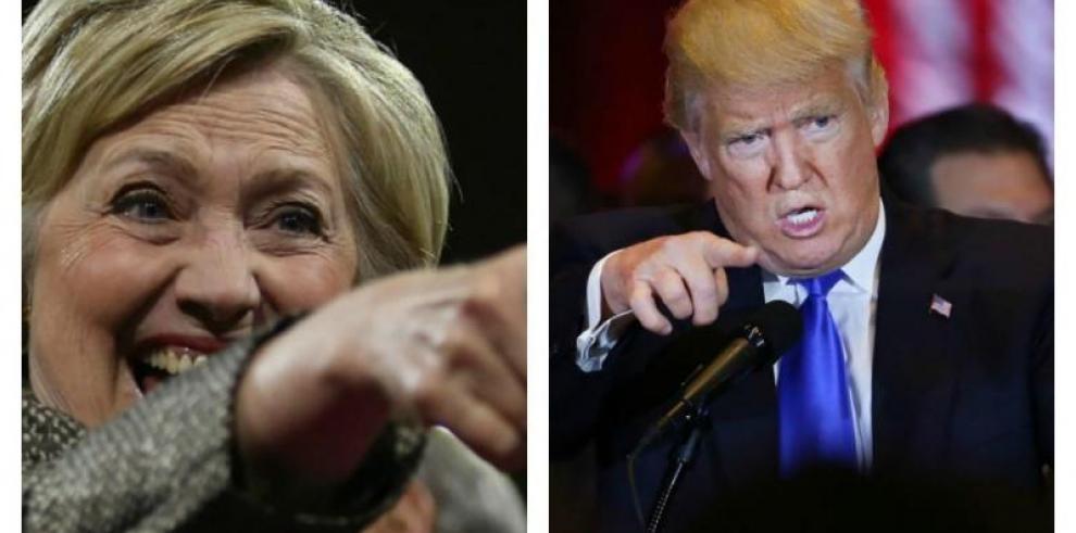 Clinton vence a Trump en nuevo sondeo, pero no entusiasman al votante