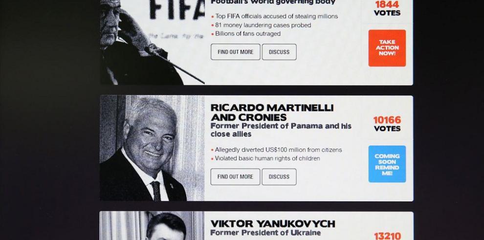 Martinelli, tercero entre los más corruptos