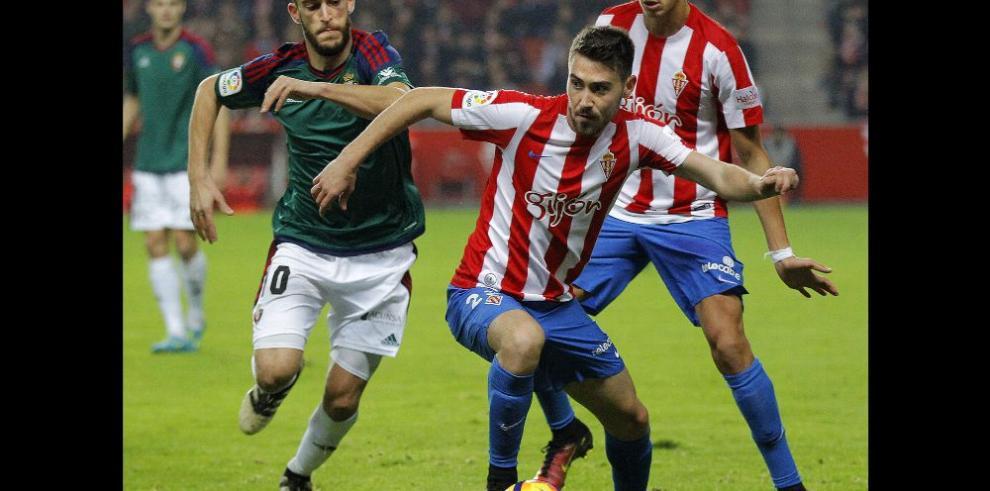 Sporting rompe su mala racha al imponerse ante el Osasuna