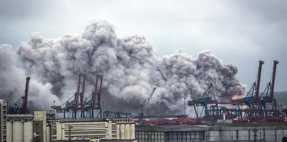 Fuga de gas de grandes proporciones alcanza el mayor puerto de Brasil