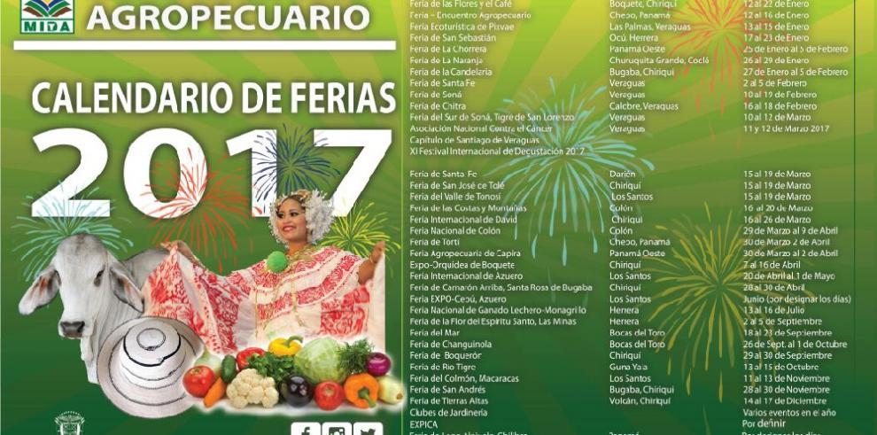 Conozca el calendario de ferias para el 2017