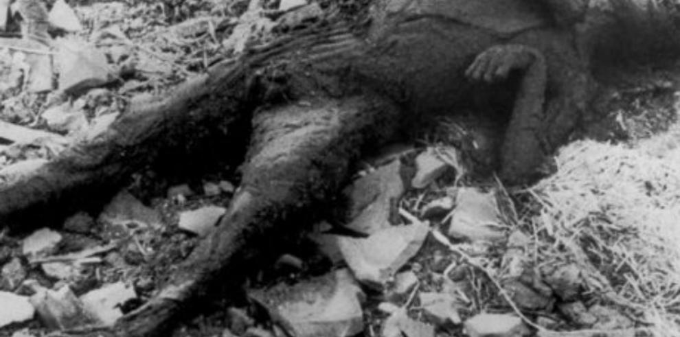 Identifican al niño calcinado que aparece en la fotografía de Nagasaki