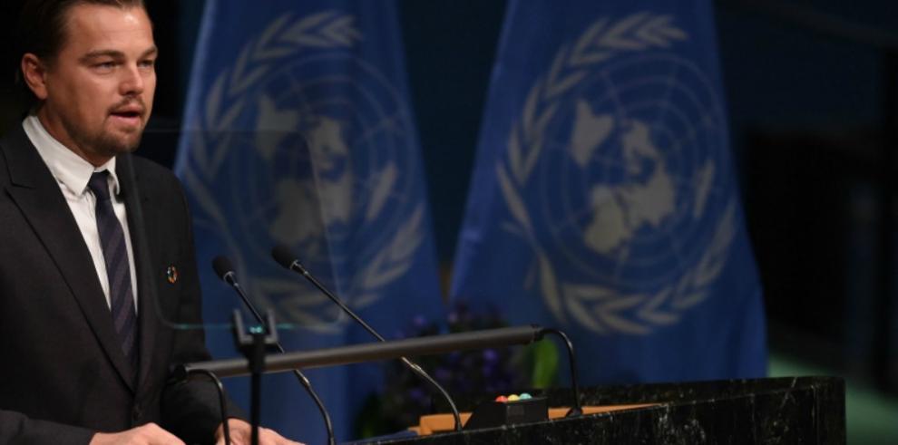 DiCaprio, mensajero de la ONU para el cambio climático