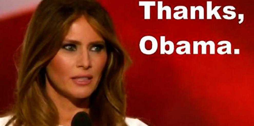 Con memes se burlan de Melania Trump, tras plagio de discurso