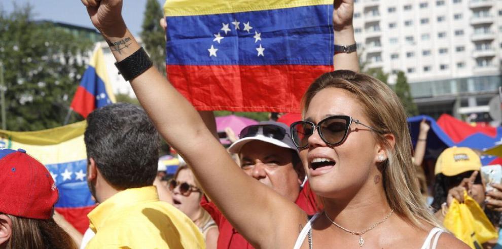 Protesta en España contra Maduro