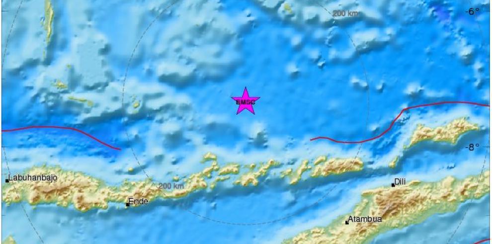 Un terremoto de 6 grados sacude la isla indonesiade Flores