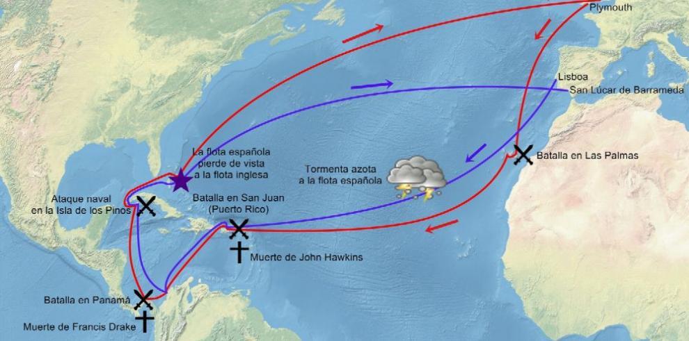 Portobelo: el ataque del corsario sir Francis Drake a Panamá en 1596
