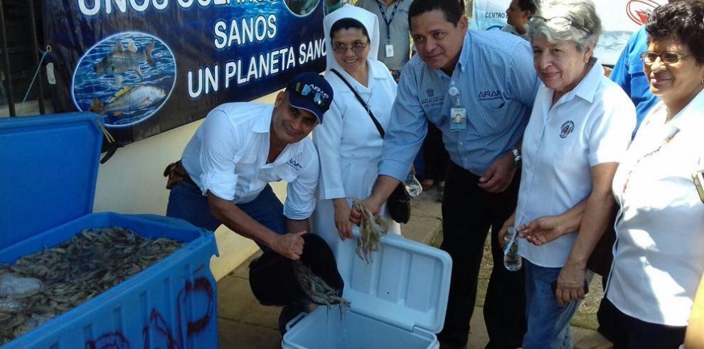 Arap dona camarones a entidades benéficas