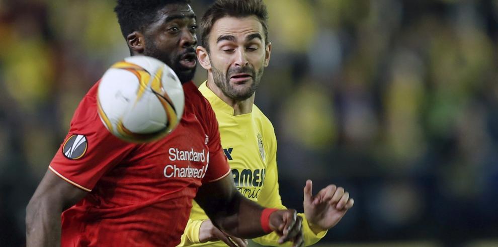 Villarreal se adelanta 1-0 a Liverpool con gol de Adrián López