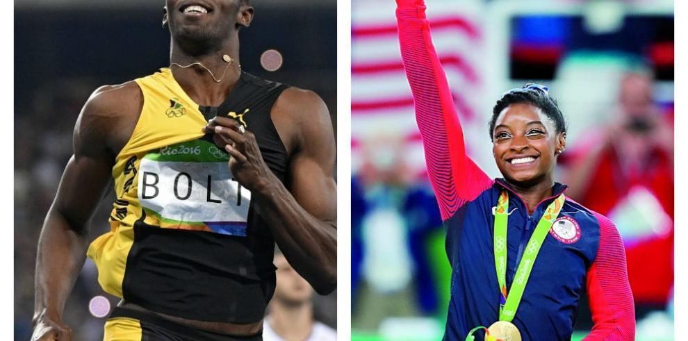 Bolt y Biles son elegidos como deportistas del año por