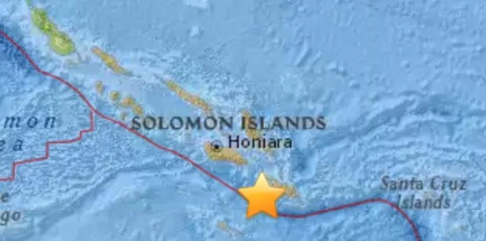 Sismo de 6.9 sacude Islas Salomón