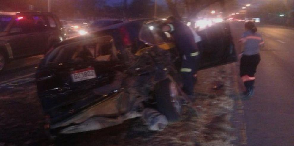 Dos heridos por accidente de tránsito en vía Tocumen