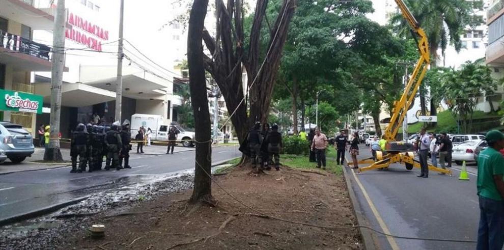 Conflicto por corte de árbol en vía Argentina