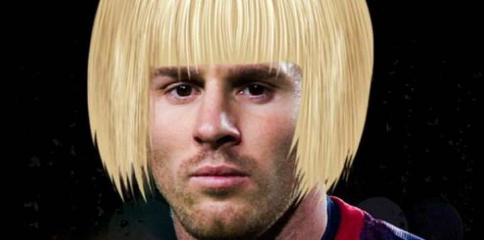 Lionel Messi se tiñe el cabello y es el blanco de memes