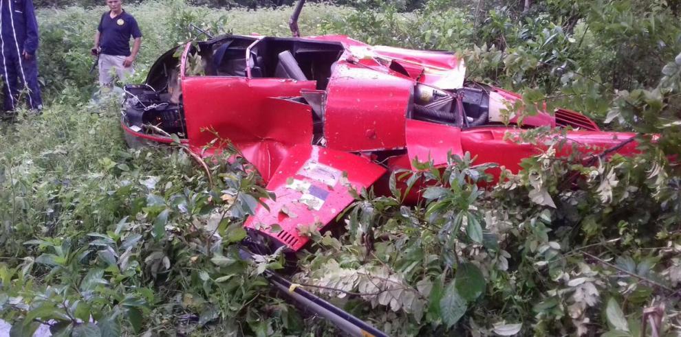Cae helicóptero en Chepo y dos personas resultan heridas