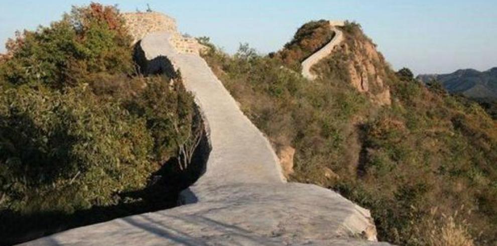 China investiga restauración con cemento de la Gran Muralla
