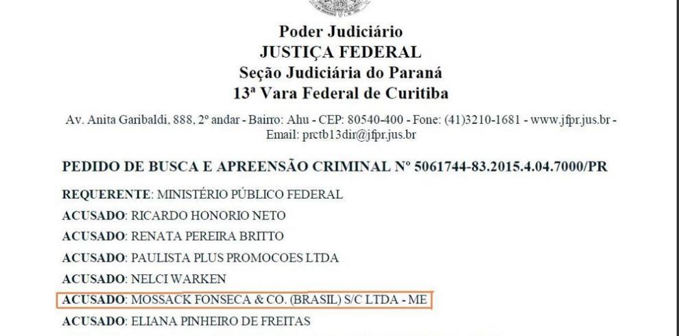"""Brasil ordena arresto de dos panameños por caso """"Lava Jato"""""""
