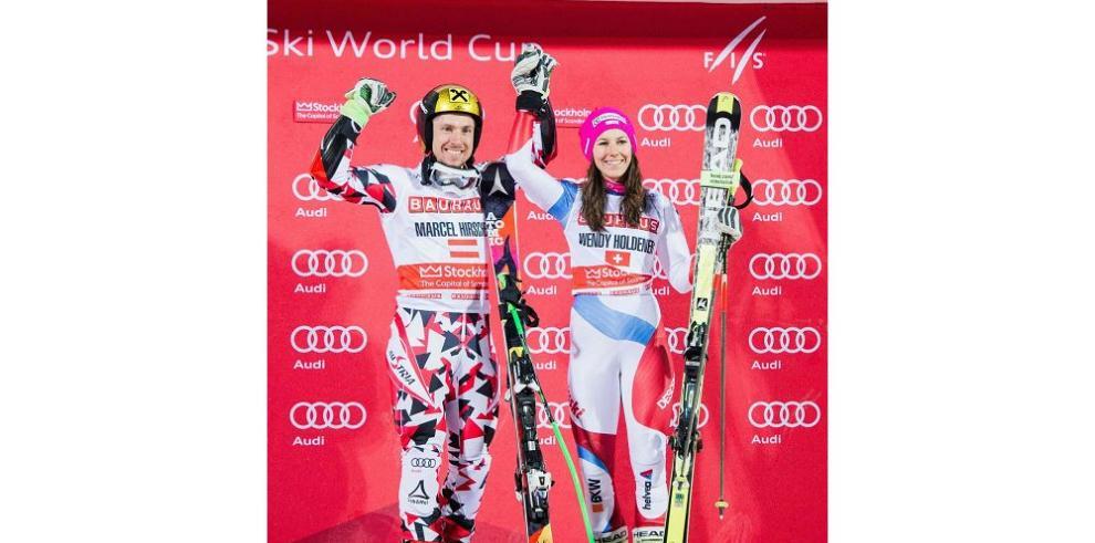 Hirscher y Holdener ganan en esquí alpino