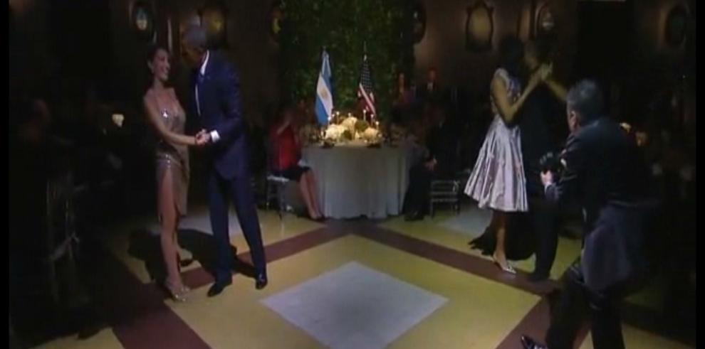 Los Obama se animan con el tango en Argentina