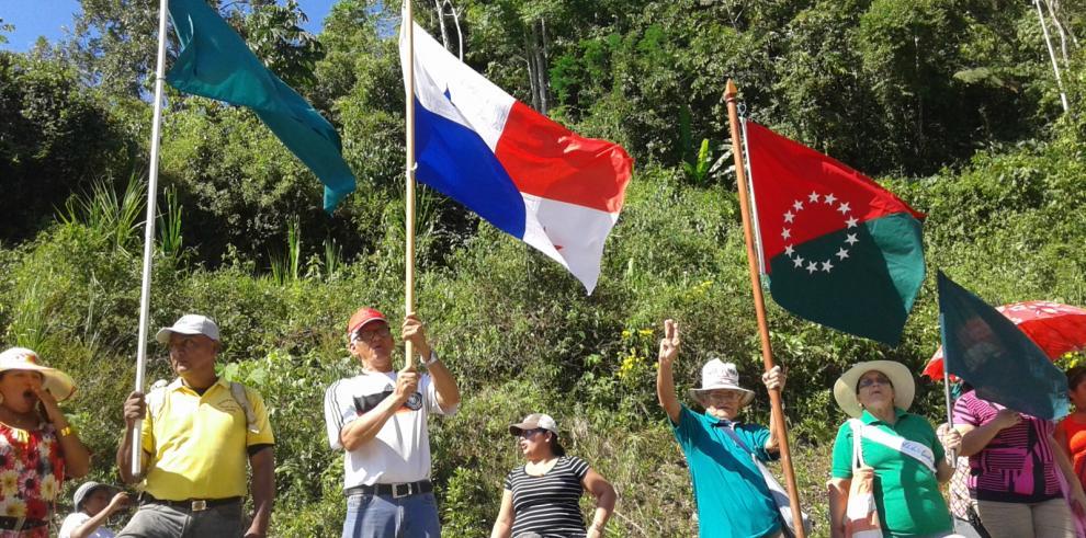 Bugabeños protestan contra hidroeléctrica La Cuchilla