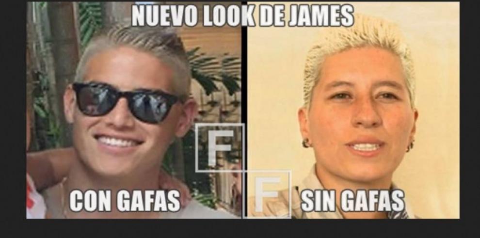James Rodríguez y sus memes por el cambio de look