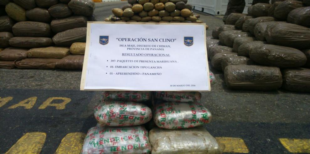 Senan incauta una lancha con 397 paquetes de marihuana