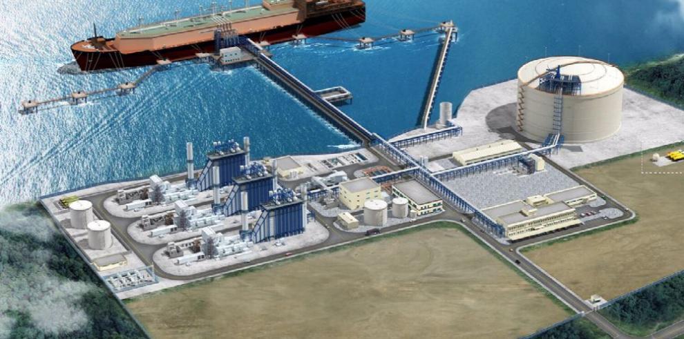 Primera planta de gas natural en Centroamérica, con 25% de avance