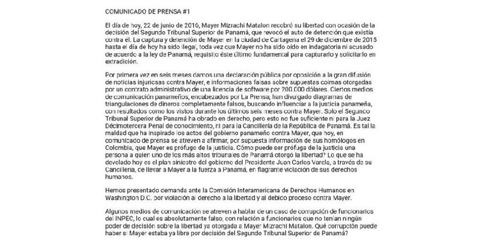 Mizrachi habla de su salida de la cárcel La Picota