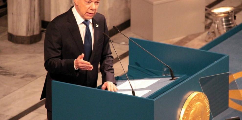 Santos abre exposición sobre Colombia en Centro Nobel de la Paz