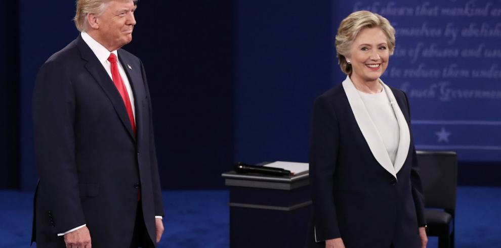 Segundo debate presidencial de Trump y Clinton